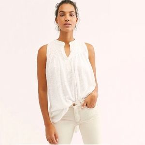 Free People New to Town Tank Ivory NWT Small